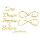 Royaltats infinity tattoos Temporary Tattoo Quote, Tattoo Temporary, - Text collection - **Love** Dream**Imagine**Believe** bachelorette tattoo