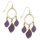Target Zirconite Chandlier Druzy Earring - Purple
