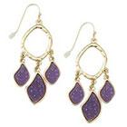 Target Zirconite Chandlier Druzy Earring - Purple