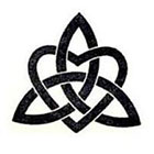 Taboo Tattoo 2 Vintage Celtic Triquerta Heart Knot Temporary Tattoo, various sizes available Wiccan Old Religion