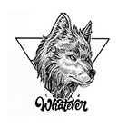 TattooWhatever Geometric Wild Wolf Temporary Tattoo - Available in 2 sizes, black and white, large size