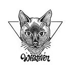 TattooWhatever Geometric Cat Temporary Tattoo - Available in 2 sizes, black and white, Large Tattoo