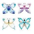 Taboo Tattoo 4 Watercolor Butterfly Set of Temporary Tattoo, various sizes available Perfect for wrists fingers and ankles birthdays style 2