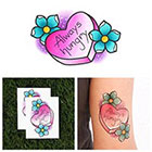 Tattify Big Appetite - Candy Heart Temporary Tattoo (Set of 2)