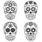 Taboo Tattoo 2 Sugar Skull Day of the Dead Temporary Tattoo, various sizes available You Choose Halloween Cosplay Priate Tribal