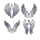 Taboo Tattoo 2 Pairs of Wings Temporary Tattoo, various sizes available You Choose