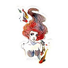 Atattood Watercolor Mermaid Temporary Tattoo