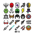 Taboo Tattoo Superhero 1 Page Set of 25 Mini Tiny Temporary Tattoo, various sizes available, You Choose Set Perfect for birthdays