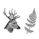 Arrow Tattoo Deer Head and Fern Vintage temporary tattoo Pattern Tattoo Temporary Tattoo wrist ankle body sticker fake tattoo