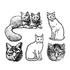 Arrow Tattoo Cat Lovers set Vintage temporary tattoo Pattern Tattoo Temporary Tattoo wrist ankle body sticker fake tattoo