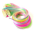 CandyAppleLocks Hair Extensions,Pastel Rainbow Streak/Stripe, Tye Dye, Dip Dye Clip in Human Hair Extensions