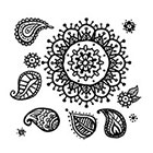 Taboo Tattoo Various sized Hand Drawn Mandala Temporary Tattoo, Perfect for wrists fingers and ankles birthdays design 41