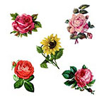 Taboo Tattoo 5 Floral Set Temporary Tattoo, Perfect for wrists fingers and ankles birthdays design 1