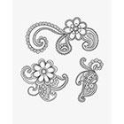 Taboo Tattoo Temporary Tattoo 1 Page Set of Various sized Hand Drawn Mandala Flower Paisley, Perfect for wrists fingers and ankles birthdays design 44