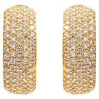 Journee Collection 1 3/4 CT. T.W. Round Cut CZ Pave Set Half Hoop Earrings in Brass - Gold