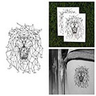 Tattify The King - Lion Temporary Tattoo (Set of 2)