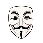 Atattood Guy Fawkes Mask Temporary Tattoo