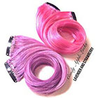 CandyAppleLocks Hair Extensions, Pastel Pink Strawberry STREAKS