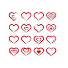 Taboo Tattoo 16 Mini Tiny Red Hearts on 1 Page Set Temporary Tattoos, various sizes available Perfect for wrists fingers and ankles birthdays