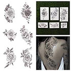 Tattify A Rose by Any Other Name - Floral Temporary Tattoo Pack (Set of 12)