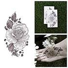 Tattify Amber Rose - Flower Temporary Tattoo (Set of 2)