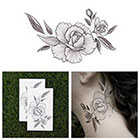 Tattify End of the Rose - Flower Temporary Tattoo (Set of 2)