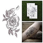 Tattify Bride and Bloom - Flower Temporary Tattoo (Set of 2)