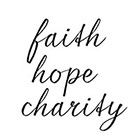 Taboo Tattoo Faith hope charity Temporary Tattoo, various sizes available