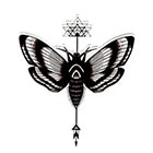 Atattood Moth Temporary Tattoo