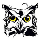 Atattood Owl Head Temporary Tattoo