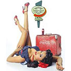 Deviant Diva Temporary Tattoo - Vintage Retro coca Cola Girl Pin Up Mature, Pin Up, Halloween, Dress Up, Vintage, Retro, Mature, Adult, High Heels