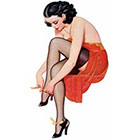 Deviant Diva Temporary Tattoo - Vintage Retro Girl Pin Up Mature, Pin Up, Halloween, Dress Up, Vintage, Retro, Thigh Highs, Mature, Adult, High Heels