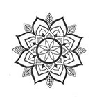 A Shine To It Mandala Temporary Tattoo Hand Drawn Henna-Style