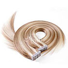 AboutHair 100% Remy Human Hair Tape In Extensions Set - Brown Highlighted Hair Extensions