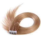 AboutHair Dark Blonde 100% Remy Human Hair Tape In Extensions Set - Dark Strawberry Blonde Hair Extensions