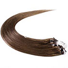 AboutHair 100% Remy Human Hair Micro Loop Extensions Set - Brown Hair Extensions