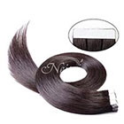 AboutHair 100% Remy Human Hair Tape In Extensions Set - Dark Brown Hair Extensions