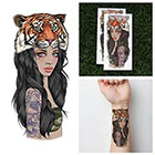 Tattify Tiger Headdress Temporary Tattoo - Tigress (Set of 2)