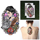 Tattify Girl With Wolf Temporary Tattoo - You & Me (Set of 2)