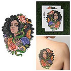 Tattify Girl With Snake Temporary Tattoo - Eve (Set of 2)