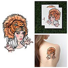 Tattify Lion Headdress Temporary Tattoo - Lioness (Set of 2) in