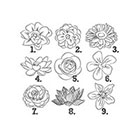 Taboo Tattoo 2 Hand Drawn Flowers Temporary Tattoo, various sizes available You Choose