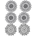 Lagoon House Temporary Tattoo Sheet - 6 Medium - sized Mandalas