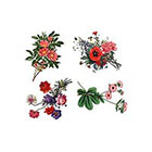 Arrow Tattoo 4 Vintage Flowers temporary tattoo Pattern Tattoo Temporary Tattoo wrist ankle body sticker fake tattoo