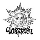 TattooWhatever Sun & Moon Temporary Tattoo - Available in 2 sizes, black and white, large size