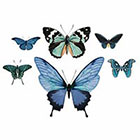 Arrow Tattoo 6 Butterflies temporary tattoos Pattern Tattoo Temporary Tattoo wrist ankle body sticker fake tattoo blue
