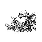 The Fickle Tattoo Vintage Botanical Fowers Temporary Tattoos -