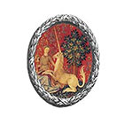 The Fickle Tattoo Medieval Lady with the Unicorn Tapestry Temporary Tattoo -