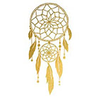 Tattoocrew Includes 2 tattoos: Gold tattoo, dream catcher, temporary tattoo, summer, dreams, beach, bodyart, handmade