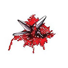 Tattoocrew Includes 2 tattoos: temporary tattoo temporary tattoos, Ninja, Shuriken, and Halloween, halloween costume, Halloween costume, scary, weapons